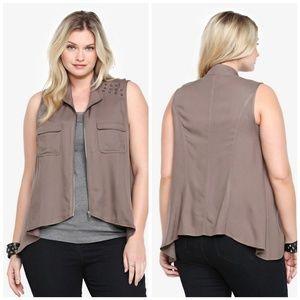 Torrid studded military vest size 2x boho